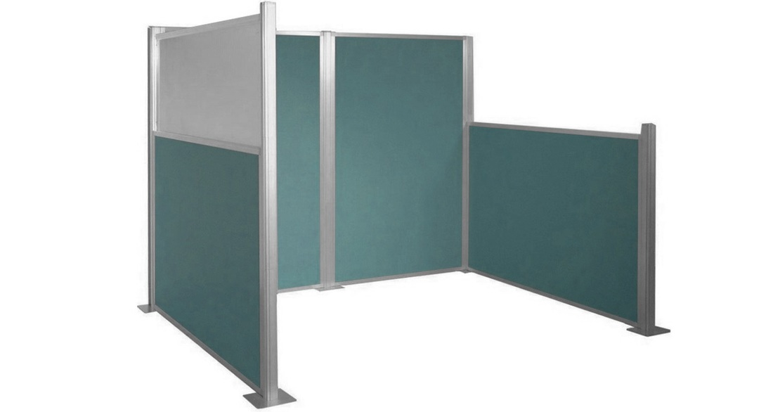 Lovely ... Office Cubicles By Sliding The Panels And Posts Together. The Stylish  Acoustical Fabric Panels Are Lightweight, Durable, Sound Dampening And  Tackable, ...